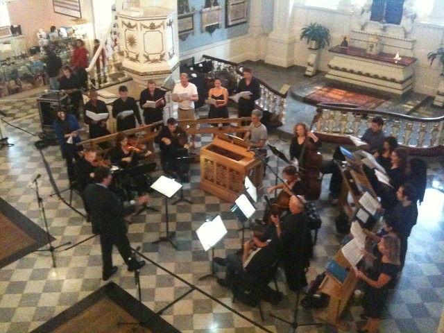 Trinity Baroque Choir practices Bach at St. Paul's Chapel