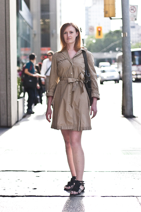 Trench Coat, Street Fashion @ Queen St. W., Toronto