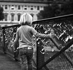 madame de pont des arts // paris (pamela ross) Tags: bridge madame paris france girl lockers pen europe hand olympus padlock ep1 pontdesarts