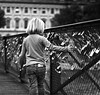 madame de pont des arts // paris (pamela ross) Tags: bridge madame paris france girl lockers pen europe hand olympus padlock ep1 pontdesarts