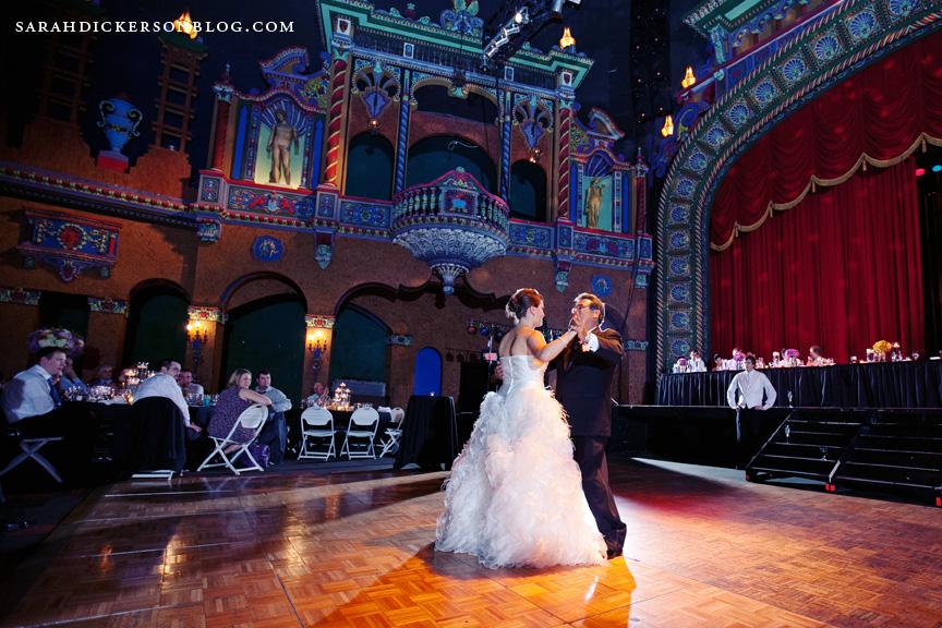 Uptown Theater Kansas City wedding reception