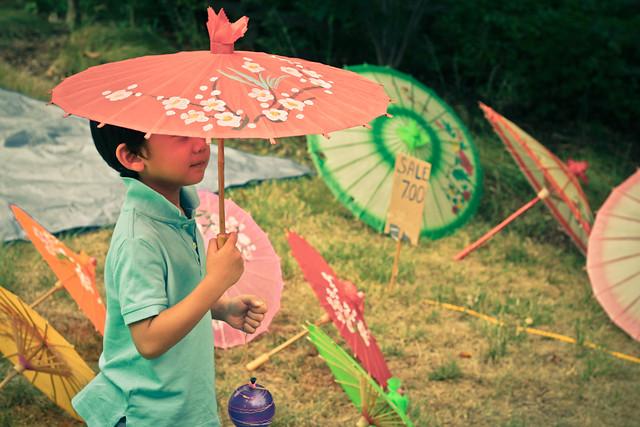 Entre kimonos y sombrillas