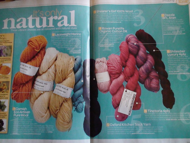 OxfordKitchenYarns in Let's Knit Magazine October 2011
