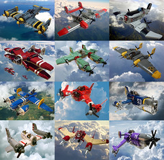 Sky-Fi Planes (JonHall18) Tags: plane fighter lego aircraft fantasy scifi moc skyfi dieselpunk dieselpulp