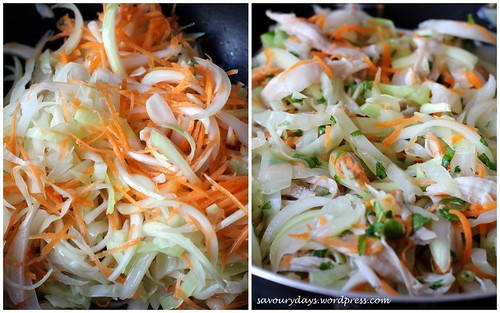 Cabbage chicken salad - method 3