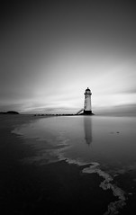 Talacre Lighthouse, Point of Ayr (Bob Small photography.) Tags: longexposure lighthouse beach wales clouds seaside long exposure cymru flintshire talacre holywell clwyd pointofayr yparlwrdu