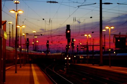 Evening at Frankfurt/Main Hauptbahnhof