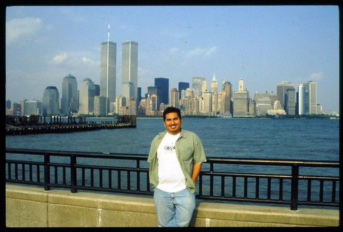 James near the World Trade Center. (1996)