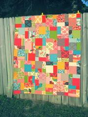 Hooty custom quilt