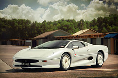 Whiter Shade of Pale (anType) Tags: uk sports car asia unitedkingdom britain exotic malaysia jag british sultan jaguar luxury coupe supercar johor sportscar tmj v6 scc xj220 pasirgudang pearlwhite hypercar worldcars ibrahimismail supercarcharitychallenge jfk1335