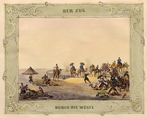 001-Caravana a traves del desierto-Malerische Ansichten aus dem Orient-1839-1840- Heinrich von Mayr-© Bayerische Staatsbibliothek
