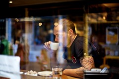 (Ashley Baxter) Tags: england reflection window coffee lincoln flatwhite coffeearoma ricknunn