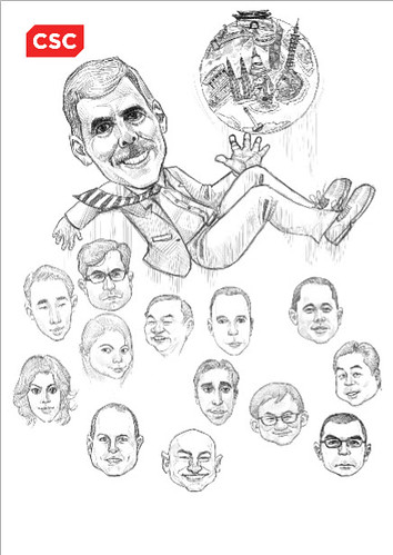 digital group caricatures of CSC - 3