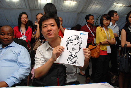 caricature live sketching for Singapore International Water Week Closing Dinner - 10