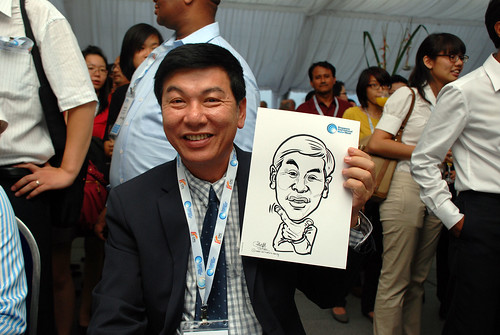 caricature live sketching for Singapore International Water Week Closing Dinner - 7