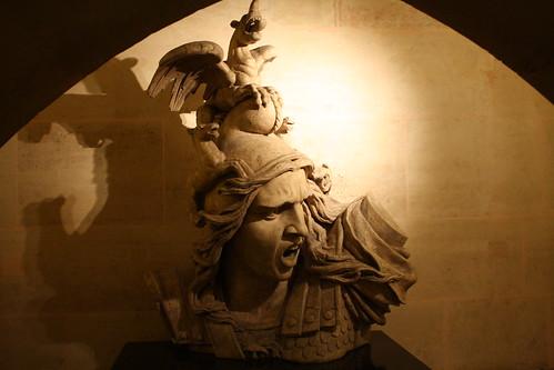 Sculpture inside the Arc de Triomphe