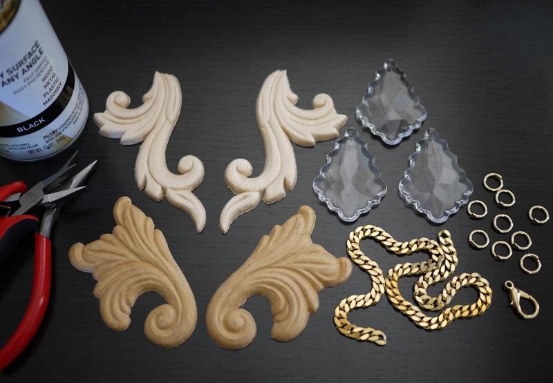 DIY Proenza Schouler Scroll Necklace tutorial 2