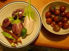 2011 garden, Aug. 9 harvest