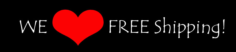 We heart Free Shipping Banner