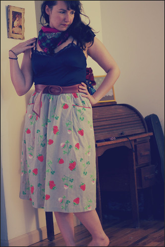 strawberry skirt
