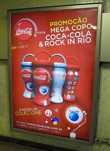 2011 Rock in Rio 750 ml Plastic Glass Promo Metro Coca-Cola Rio de Janeiro by roitberg