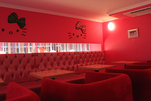Interior Hello Kitty Cafe in Seoul South Korea
