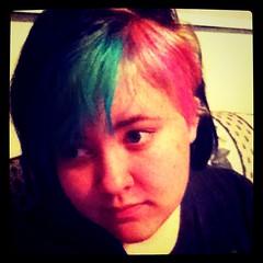 (Ty-Erin-Saurus Rex) Tags: portrait pinkhair blackhair greenhair manicpanic multicoloredhair iphoneography