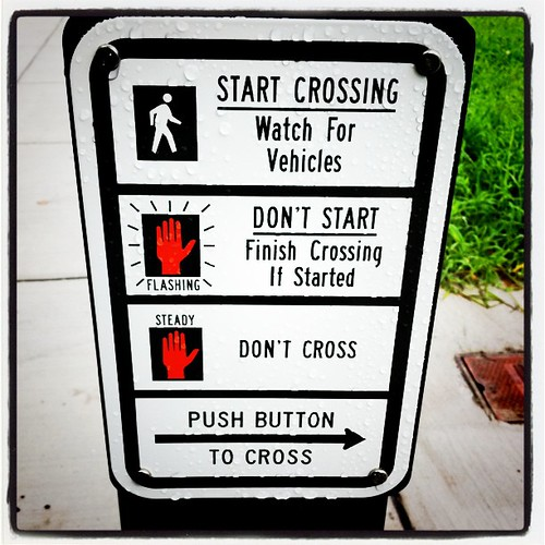 Push Button to Cross by stevegarfield
