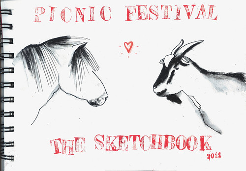 The sketchbook for the Picnic Festival by la casa a pois