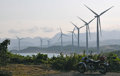 view of windmills with my W650