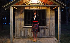 Find a Way. (Ezra...) Tags: old portrait girl fashion office sara outdoor shed silvercity redbelt 2011 yellowheels nikond60