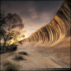 Wave Rock, Hyden, Western Australia :: HDR (:: Artie   Photography ::) Tags: hdr waverock rock ocean formation granite sunrise canon 5dmarkii 5dm2 wideangle ef f4l 1740mm tripod 3xp photoshop cs3 photomatix tonemap tonemapping westernaustralia hyden wa australia artie