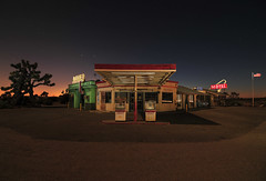 Four Aces (Noel Kerns) Tags: california lake station set night movie four los desert angeles motel diner gas mojave aces