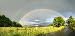 Panormica doble Arco Iris completo (acampos.es) Tags: panorama arcoiris rainbow panoramic panoramica doublerainbow doblearcoiris canoneos450d