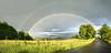 Panorámica doble Arco Iris completo (acampos.es) Tags: panorama arcoiris rainbow panoramic panoramica doublerainbow doblearcoiris canoneos450d