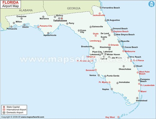 Florida Airport Map.Florida Airports Map A Photo On Flickriver