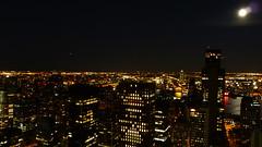 P1050438 (gioprez) Tags: new york city nyc sky streets cars rio night buildings river stars lumix lights luces noche manhattan edificio ciudad luna taxis fullmoon panasonic estrellas hudson tz10 zs7