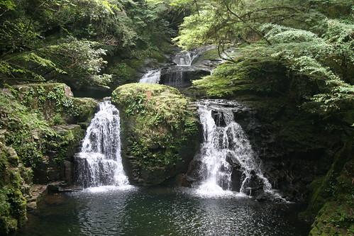 Intense greens of Akame 48 Waterfalls