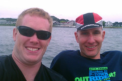 Jay & Ornoth resting near the Cape Cod Canal at MMA after Day 1.