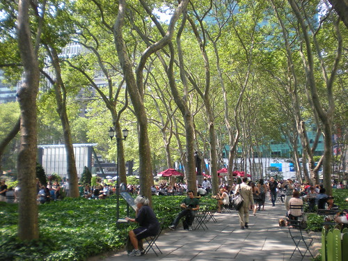 Bryant Park NYC at lunch time