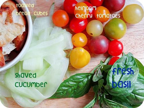 summer tomato panzanella skewers