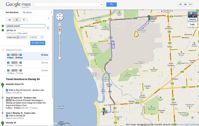 Google Transit, Adelaide