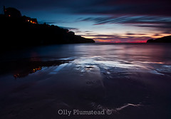 Long after Sunset. (Olly Plumstead) Tags: sunset summer sky seascape beach water night clouds canon dark landscape evening bay long exposure cornwall colours tripod sigma after olly 1020mm manfrotto plumstead porthcothan 450d