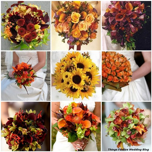 Wedding Flower Ideas For Fall: Fall Bridal Bouquets - From Simple To Elegant