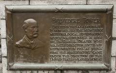 Belvedere Tower plaque (-JvL-) Tags: newyorkcity centralpark manhattan belvederecastle belvederetower
