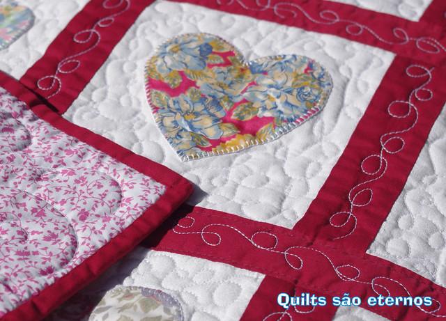 Baby quilt corações