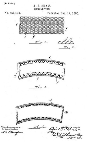 Self Sealing Bike Tire Patent (1895)