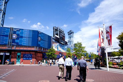 Outside on the U.S. Open's grounds