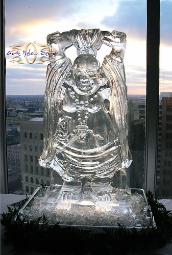 Buddha Ice Sculpture