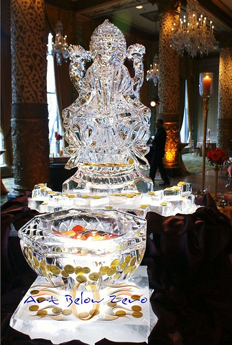 Laxmi 3D ice sculpture